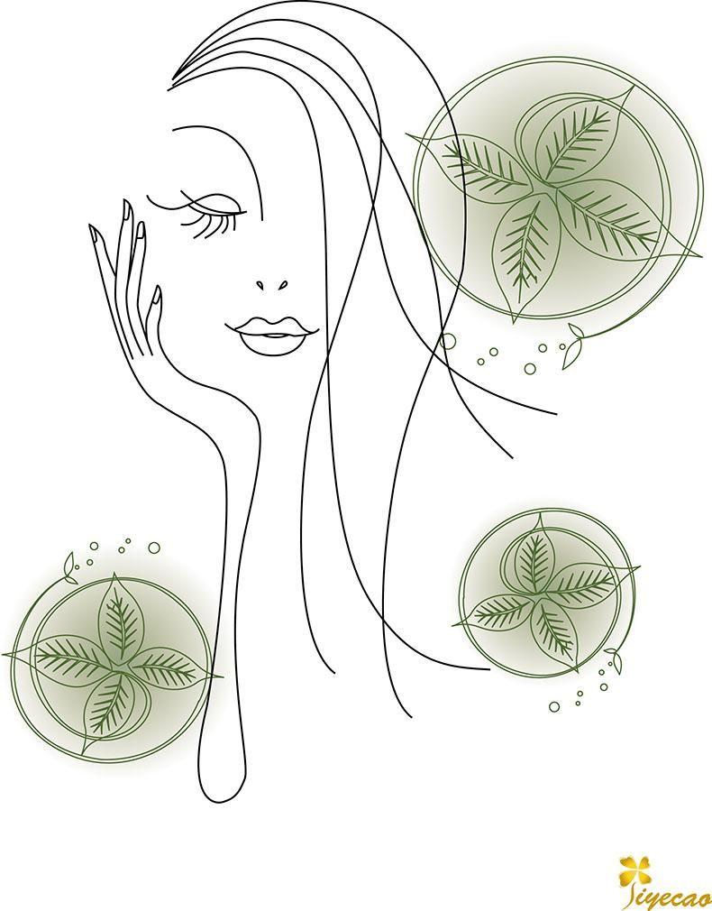 化妆品海报图片手绘图简约