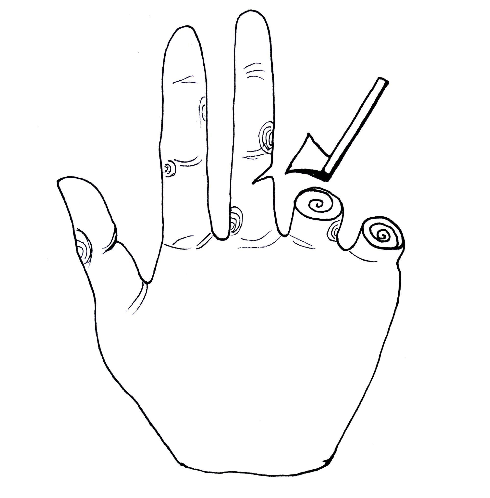 手的联想-图形创意-设计案例 - 设计师马斐斐设计工作图片