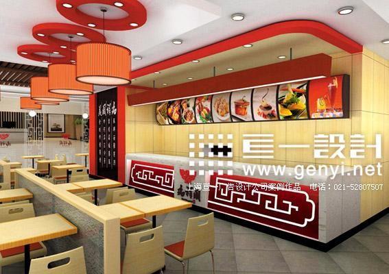 北京中式餐饮店装修效果图设计 富含中国传统特色餐饮店店面设计图片