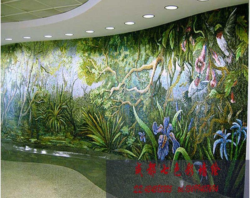 欧式风格-欧式风格-设计案例 - 成都七色彩墙绘工作室