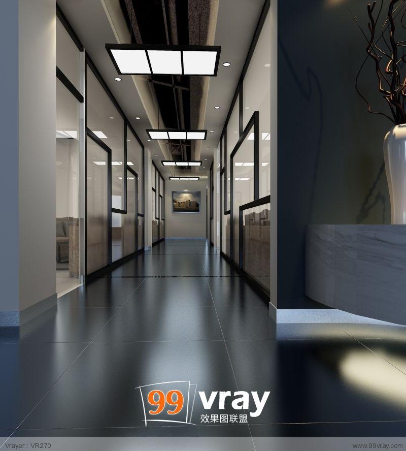 办公空间前台效果案例图片 - 设计师【99vray】表现的