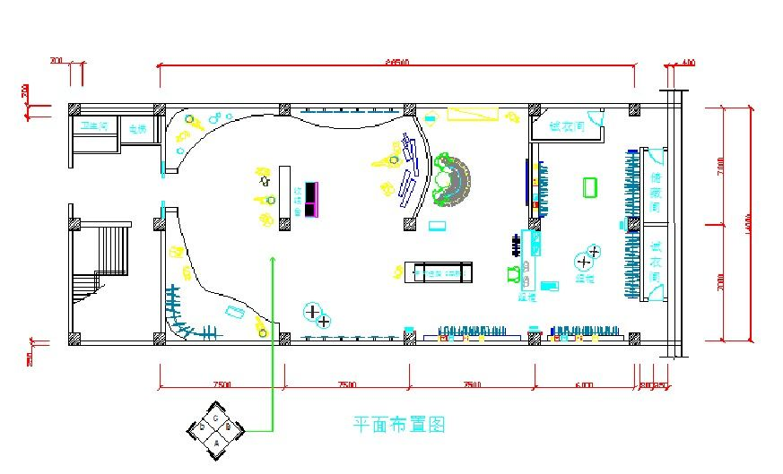 cad室内设计 展示设计 服装店cad图