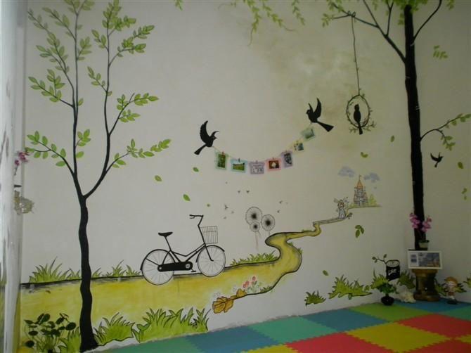 墙体绘画案例图片 - 设计师c5201314yf设计工作室的