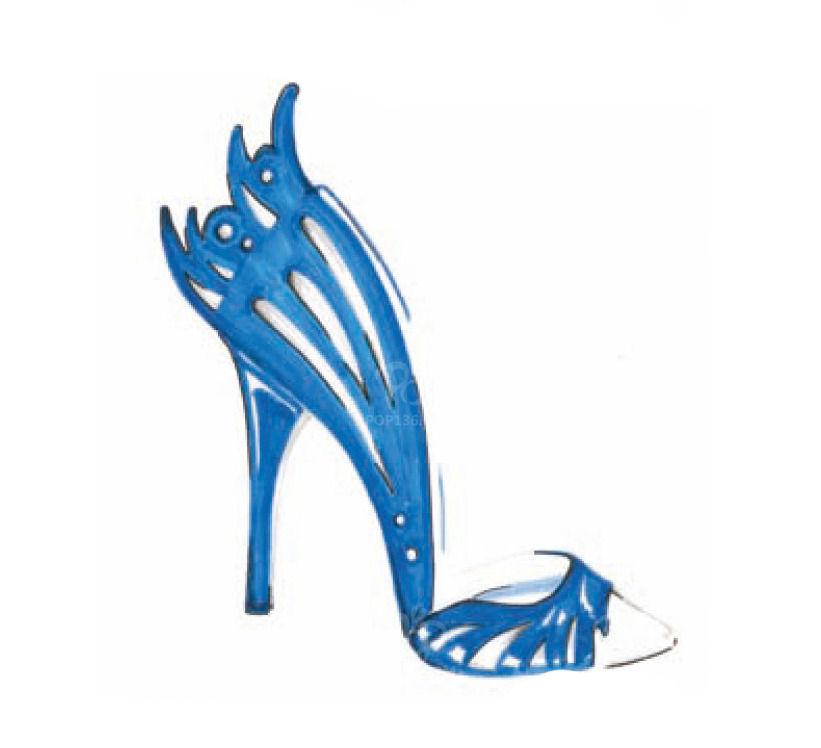 女鞋设计手稿01案例图片