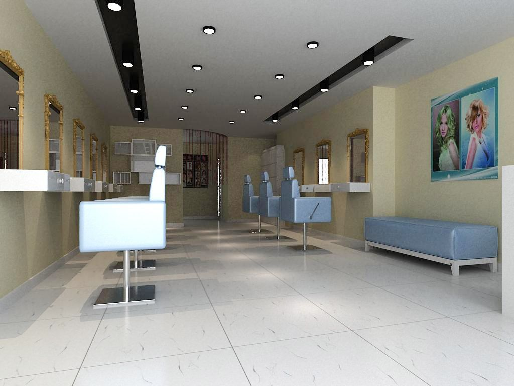 郑州店面装修 理发店装修案例案例图片 郑州艺海联创装饰公司的空间 高清图片