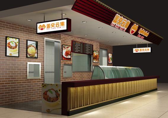 餐饮店面空间设计,中式餐饮店装修设计; 餐饮加盟店设计-盖浇云集餐饮图片