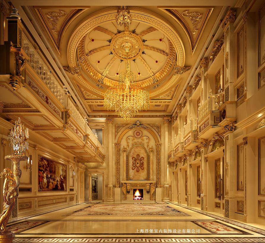 欧式大厅案例图片 - 上海浮堡室内装饰设计有限公司