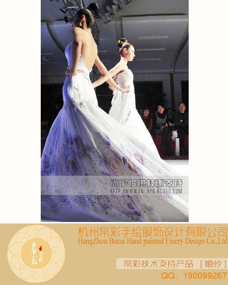 婚纱手绘花型设计展示案例图片