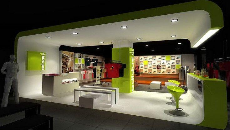 阿迪达斯店面效果图-adidas专卖店设计