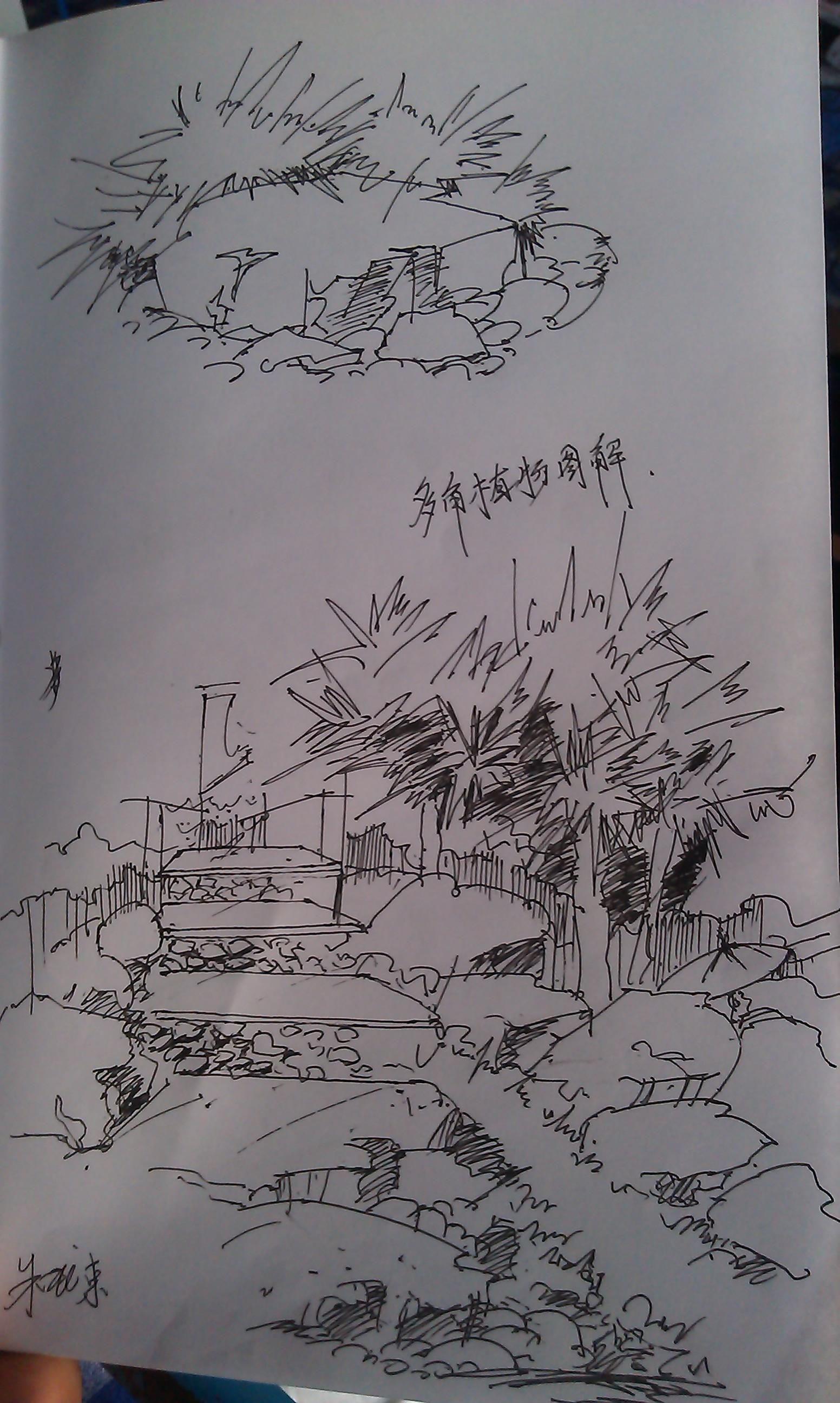 小景室内手绘图