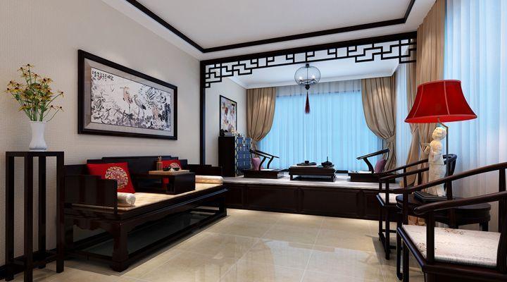 金沙湖高尔夫观邸130平米三居室装修设计效果 高清图片