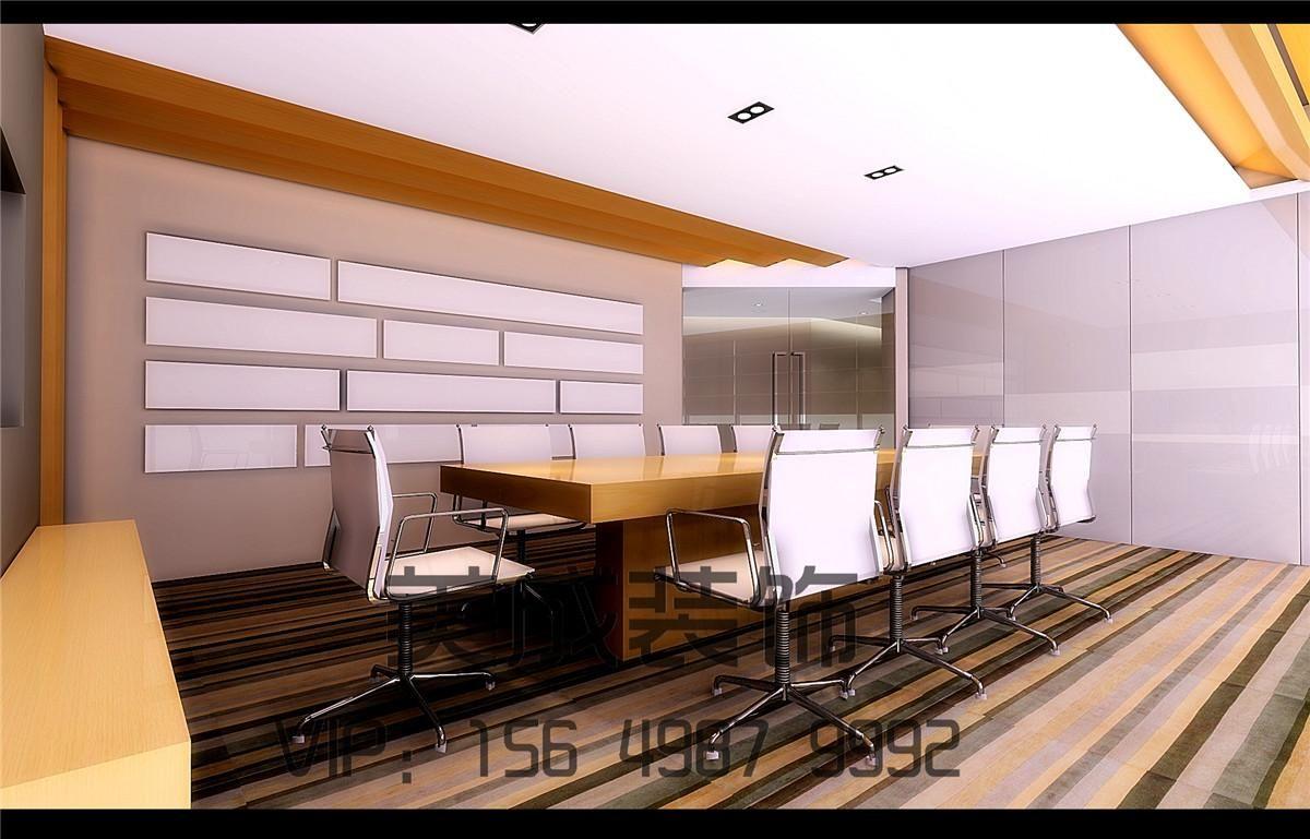 写字楼设计装修效果图案例图片 中原专业工装装修设计公司的空间 红高清图片