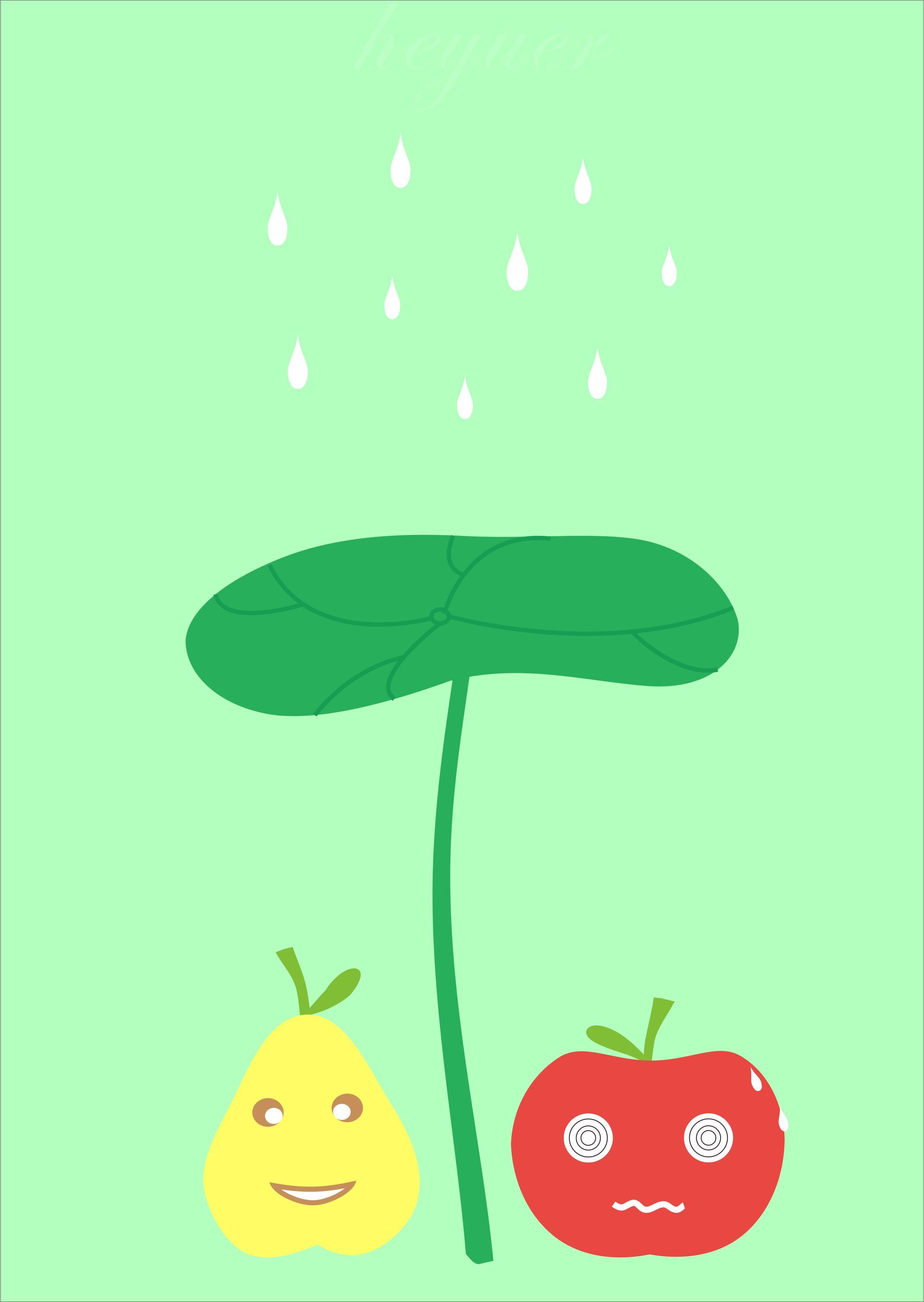 可爱水果插画