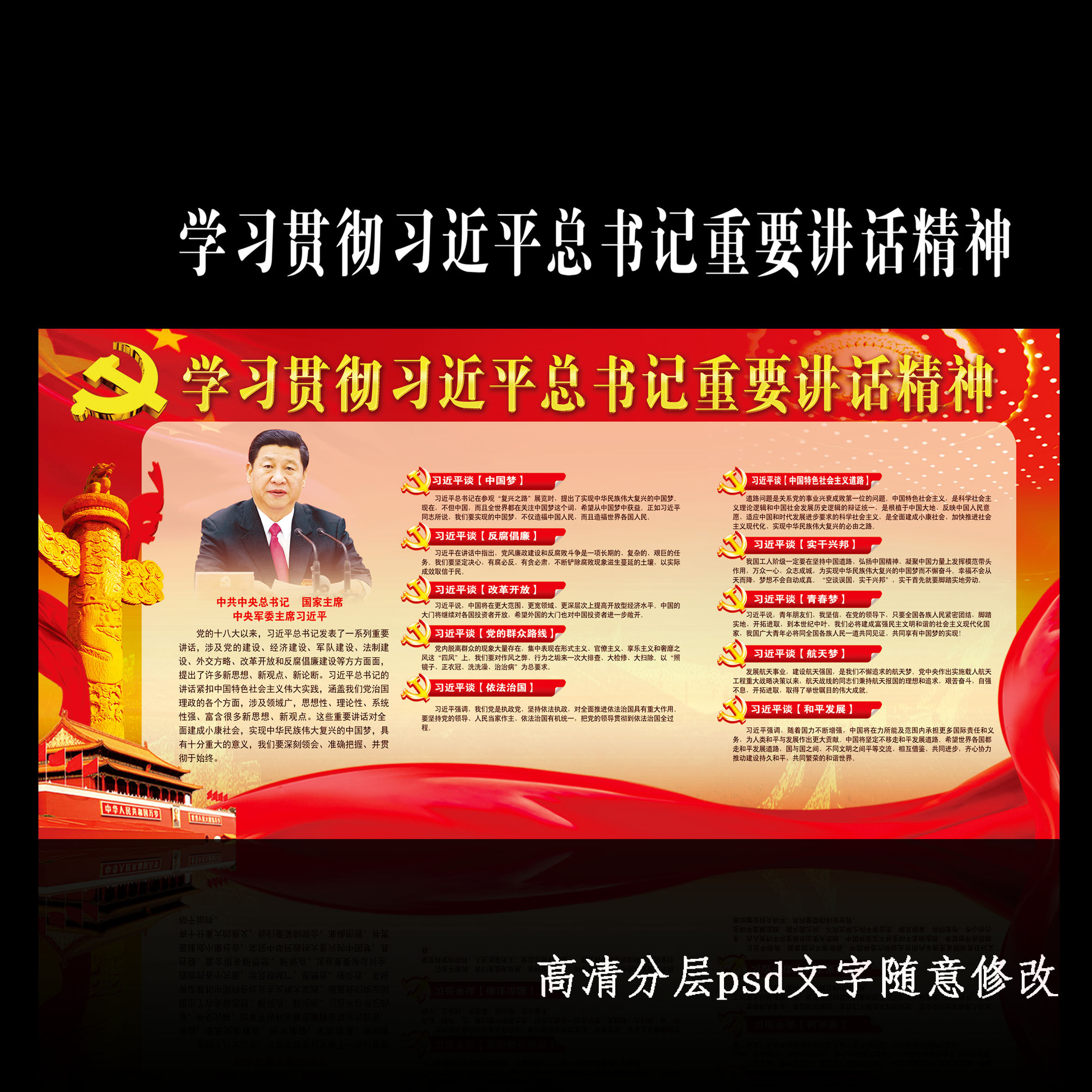 十八大/中国梦/党建展板1
