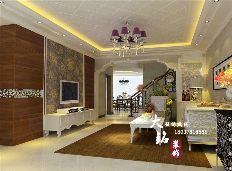 郑州新房装修设计欧式风格复式楼装修设计