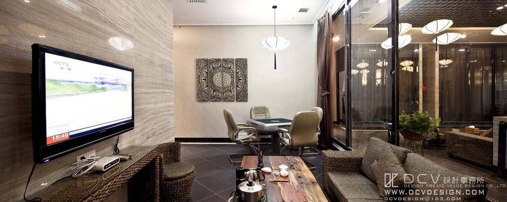 西安茶秀会所室内设计—渭南周和茗茶 新中式餐厅