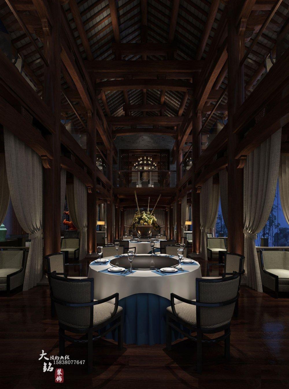 苏园一号 酒店设计 设计案例 郑州餐厅装修设高清图片