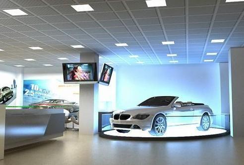 深圳汽车销售展厅装修效果图欣赏-商场装修-设计案例