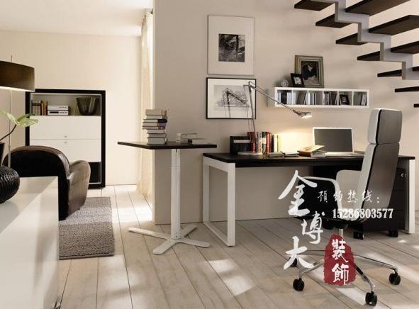 0371-63355685           家庭式办公室装修设计方案图        楼梯一图片