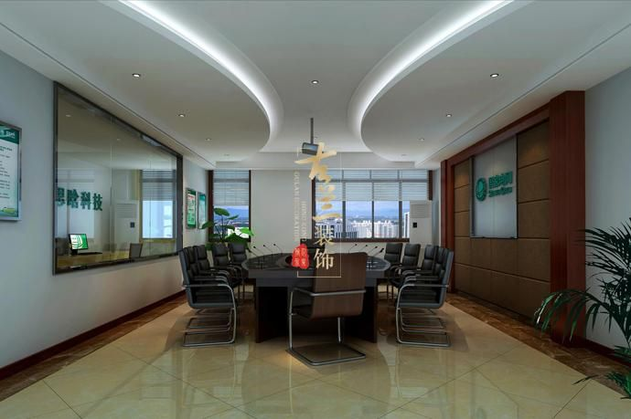 成都思晗科技公司办公室装修设计效果图,成都办公室装修设计-思晗图片