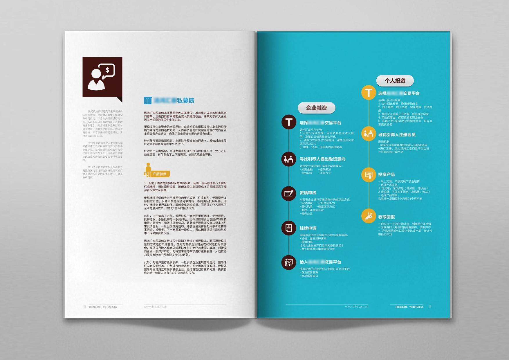企业宣传册模板】  企业宣传册设计 金融行业-画册设计-合一设计图片