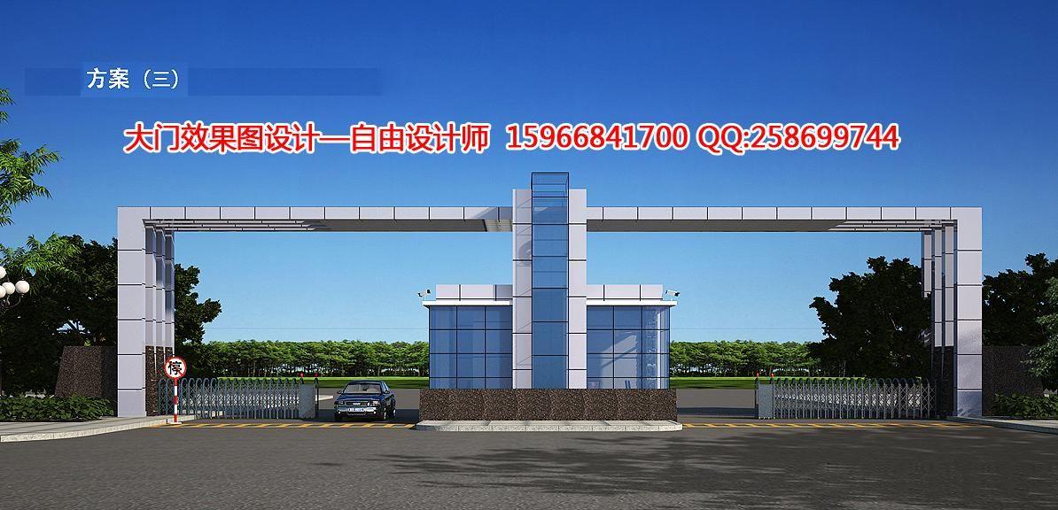 工厂大门鸟瞰-123