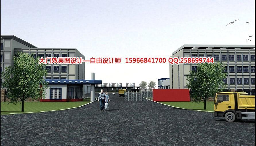 工厂大门效果图设计,工-1234