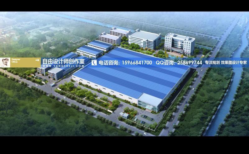 轻钢结构厂房效果图设计,轻钢结构厂房外观效果图设计