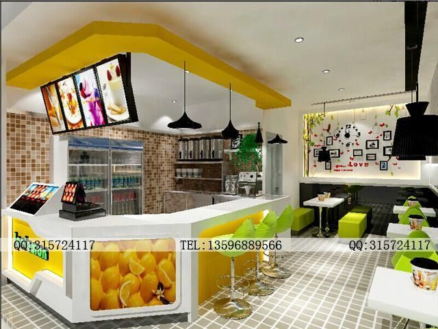 奶茶店面效果图设计12345案例图片 设计师hy2208021981011设计工高清图片