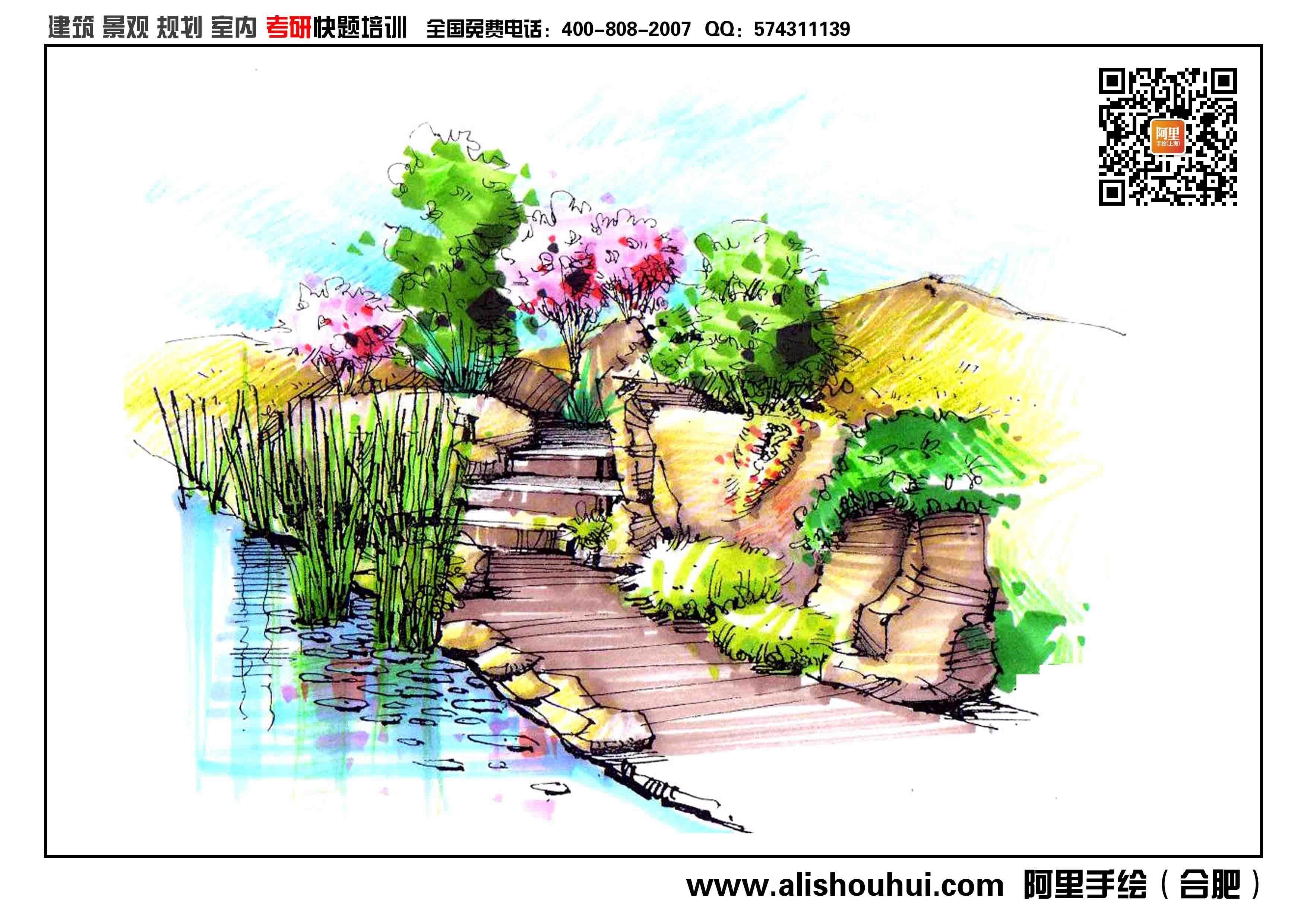 景观手绘效果图123456案例图片
