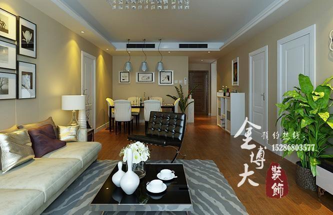 橄榄城三室两厅139平方装修效果图 高清图片