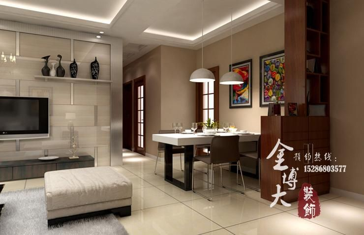 三室两厅89平方装修效果图案例