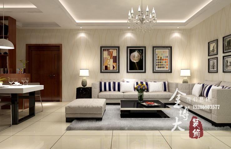 三室两厅89平方装修效果图案例 高清图片