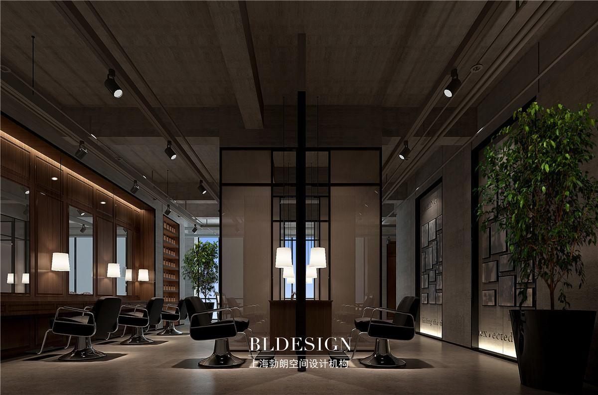 高级美发会所设计-现代风格高端美发店装修设计效果