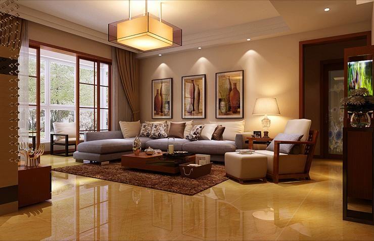 农大家属院140平三室两厅一卫一厨现代简约装修效果图高清图片