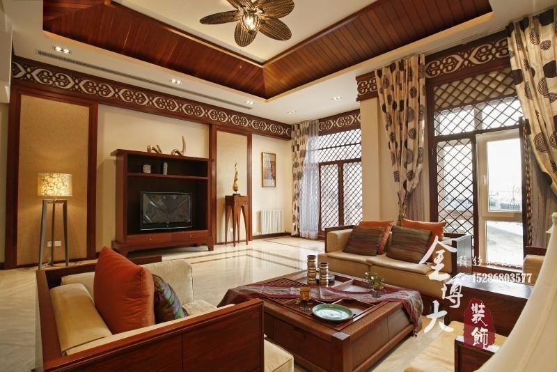 中式古典风格别墅室内装饰案例-公司动态