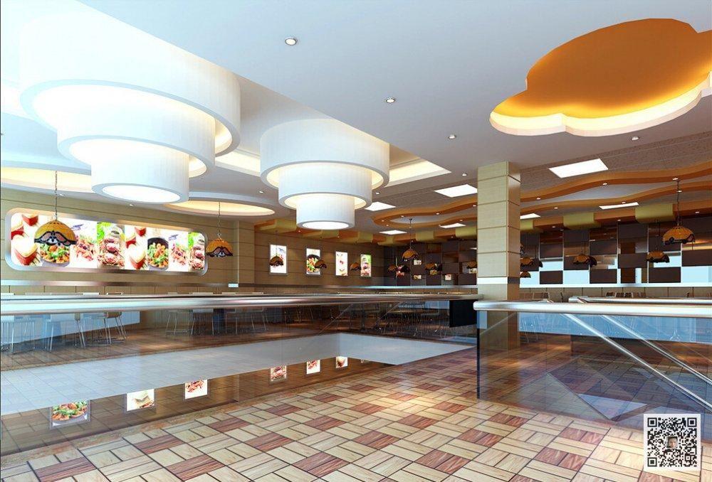郑州快餐店装修公司12案例图片 郑州酒店装修公司 洗浴装修设计 SPA高清图片