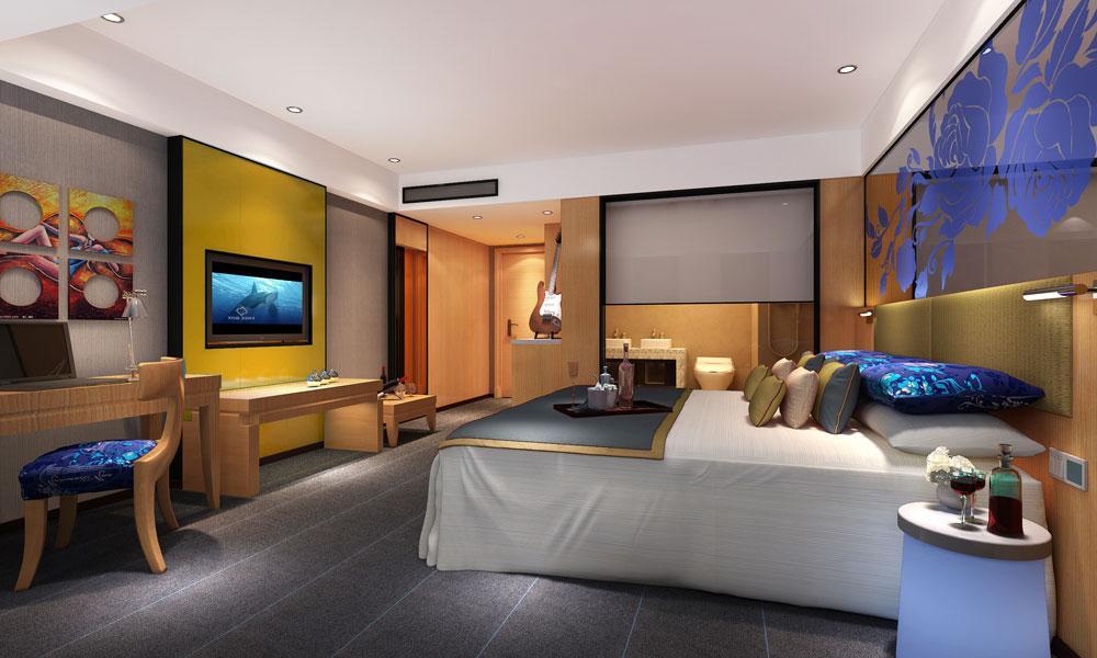 郑州主题酒店设计公司1234案例图片 郑州精品酒店设计公司的空间 红
