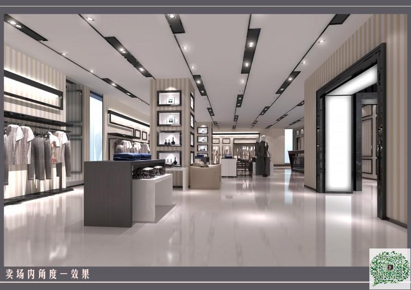 郑州服装店装修设计案例1案例图片 郑州商铺装修公司的空间 红动中国高清图片