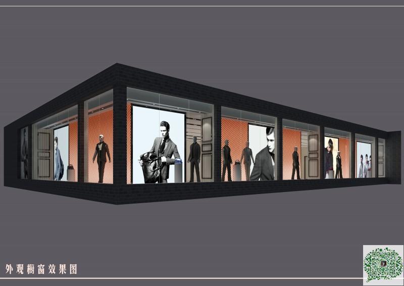 郑州服装店装修设计案例123案例图片 郑州商铺装修公司的空间 红动中高清图片