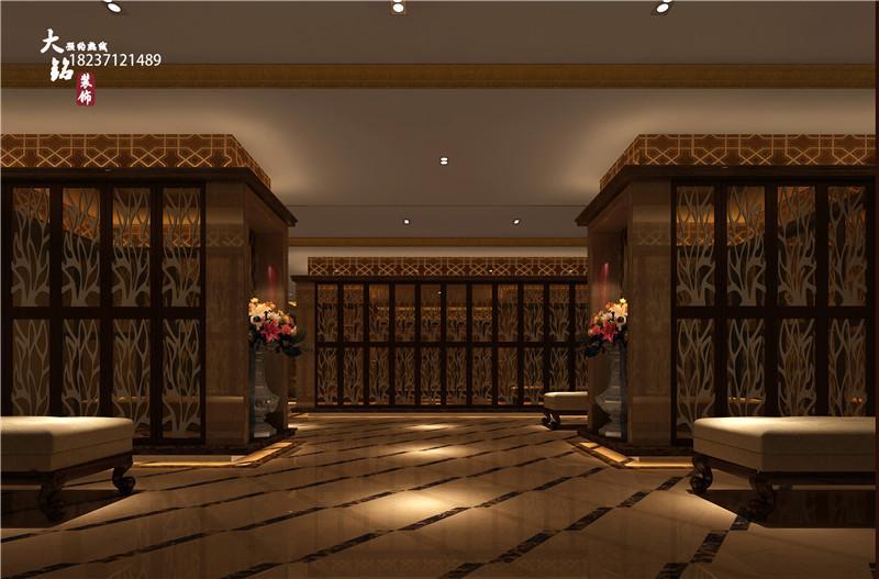 大铭装饰酒店甘肃崆峒山集团洗浴后宫装修设计建筑设计彩色图片