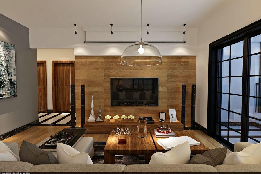 77平方装修设计案例效果图-美巢装饰三室