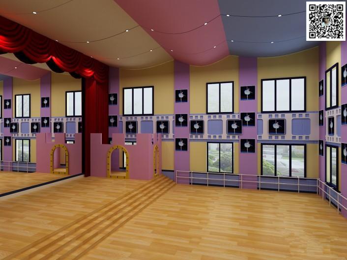 郑州舞蹈房装修设计公司123案例图片 郑州舞蹈室设计公司的空间 红动高清图片