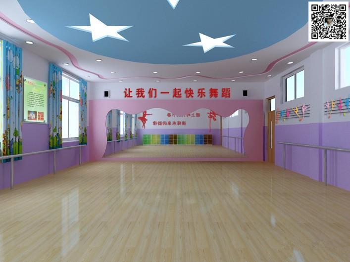 郑州舞蹈房装修设计公司123456案例图片 郑州舞蹈室设计公司的空间 高清图片