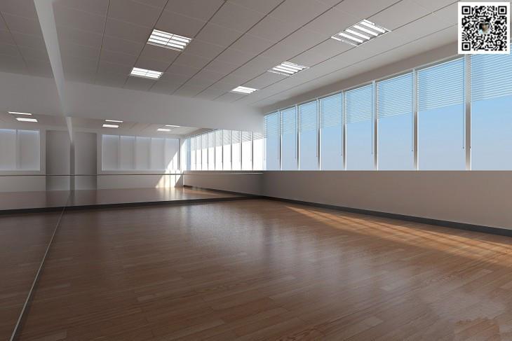 红动中国设计空间 郑州舞蹈房设计公司 郑州舞蹈房装修设计公司高清图片