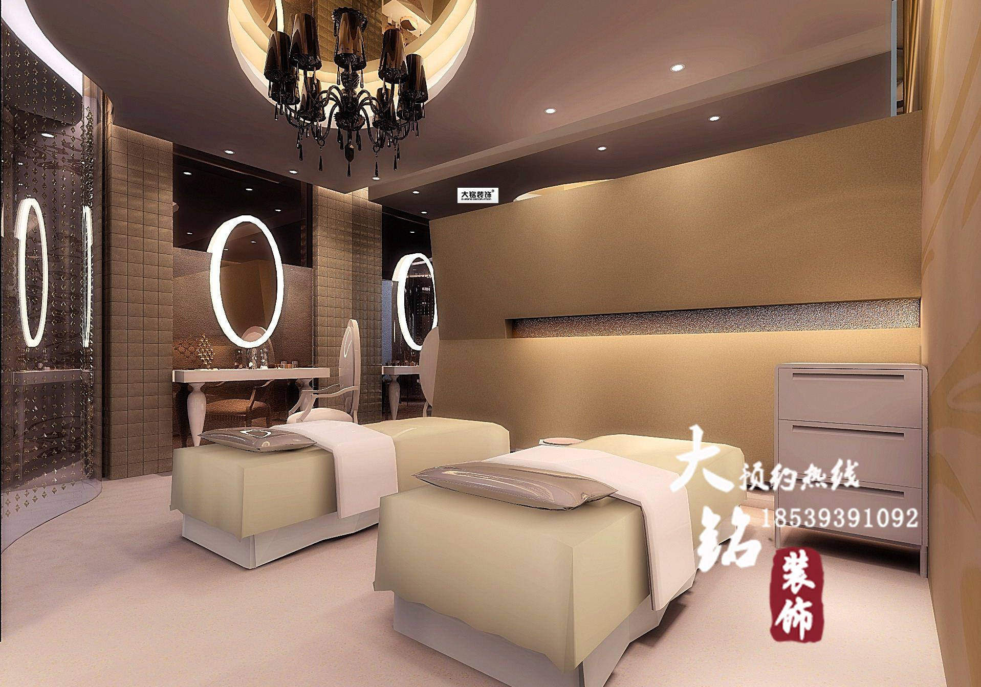 郑州知名美容院装修设计公司-美丽田园美容院装修设计图片