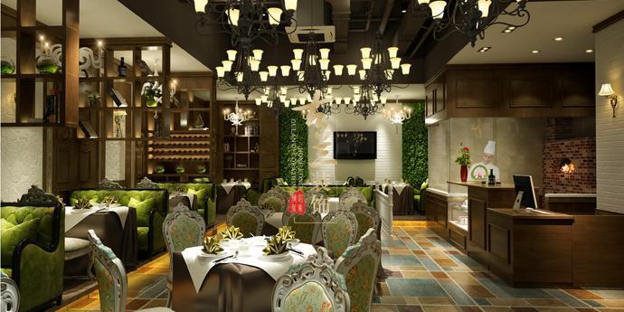 卡玫西餐厅装修设计效果图12图片
