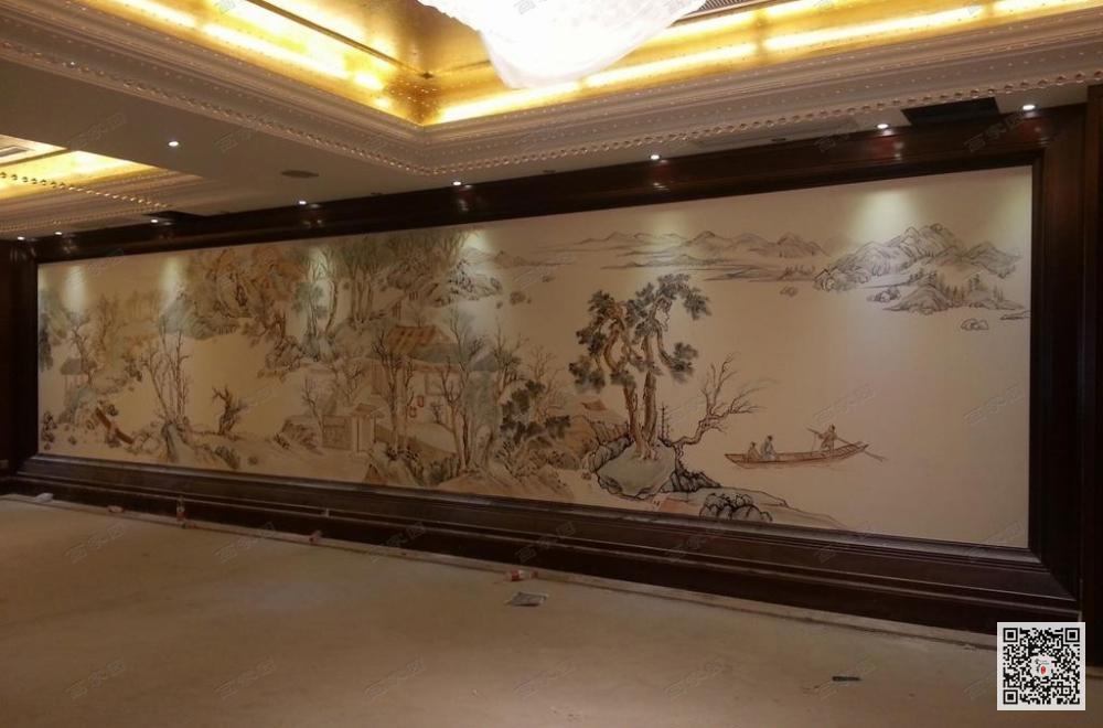 潢川县酒店壁画公司_酒店大厅壁画设计定制