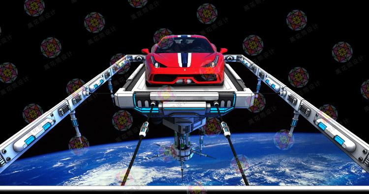 科技太空 汽车4s店立体地贴设计 12