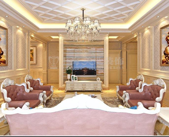 方圆经纬130平米三室一厅简欧风格装修效果图123图片